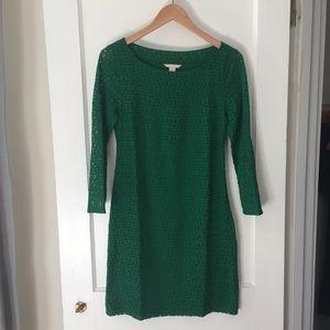 Banana Republic Emerald Green Lace Dress